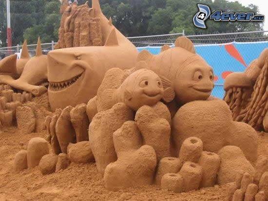 Nemo, sculture di sabbia