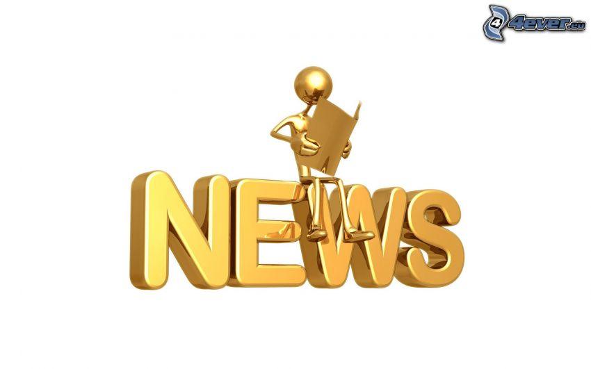 news, pupazzo, quaderno