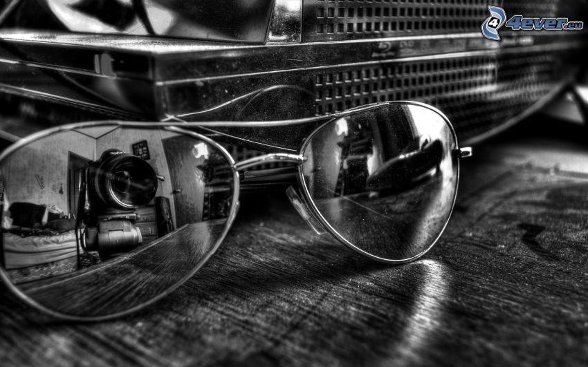 occhiali da sole, riflessione