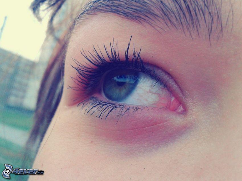 occhio, ragazza