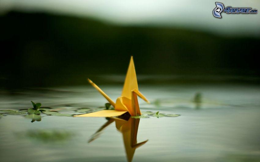 origami, cigno