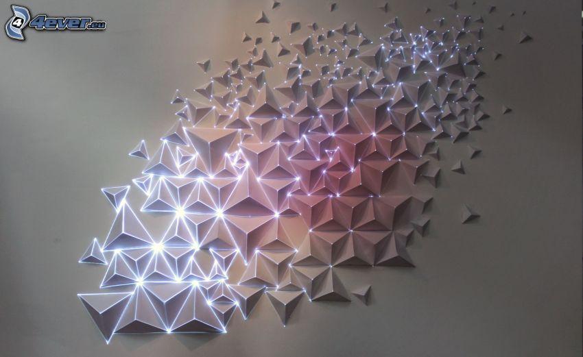 piramidali, luci
