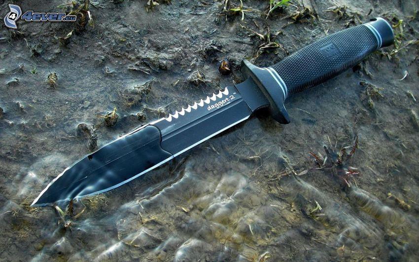 pugnale, coltello, acqua