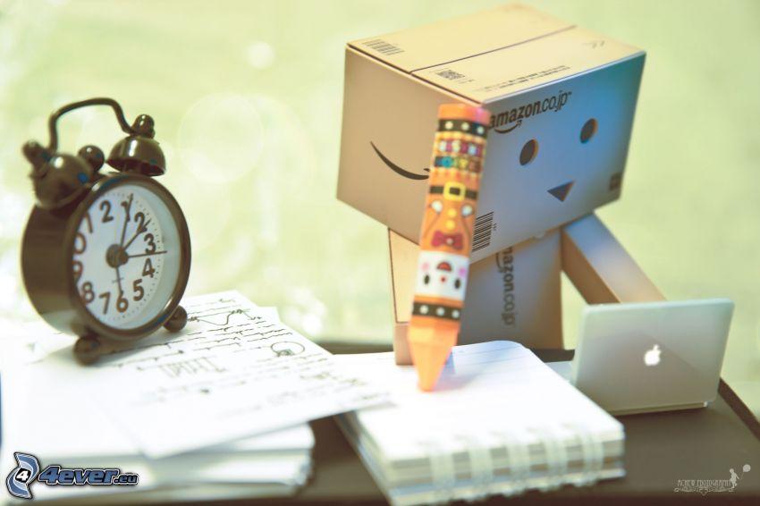 robot di carta, allarme
