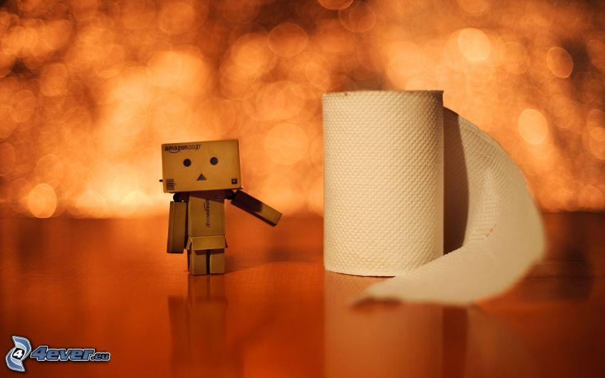 robot di carta, carta igienica