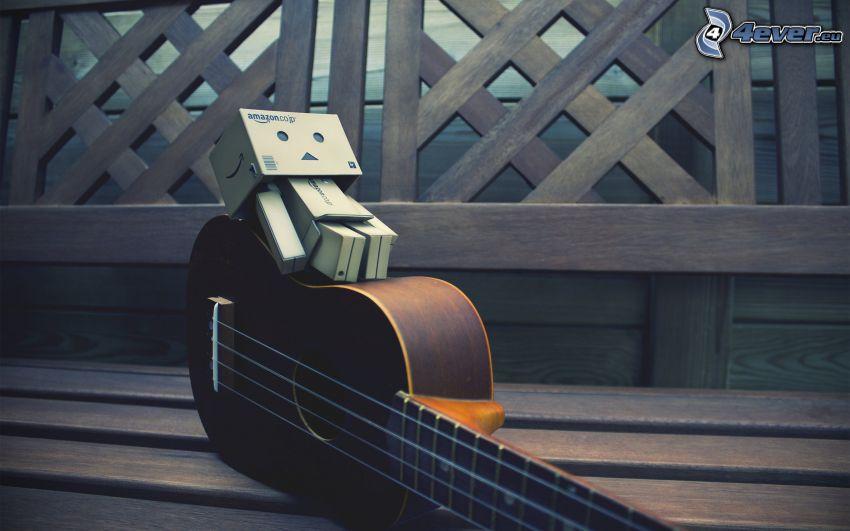 robot di carta, chitarra