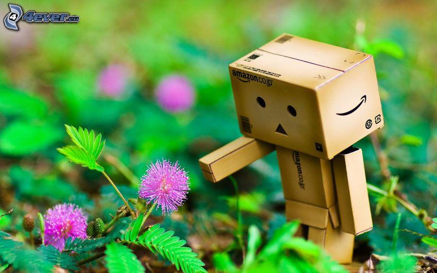 robot di carta, erba