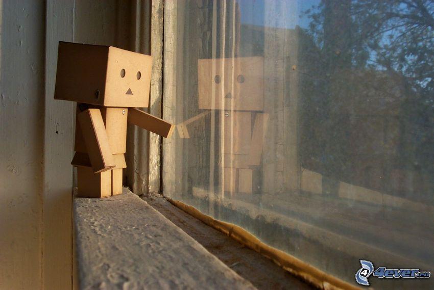 robot di carta, finestra
