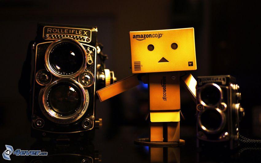 robot di carta, fotocamera