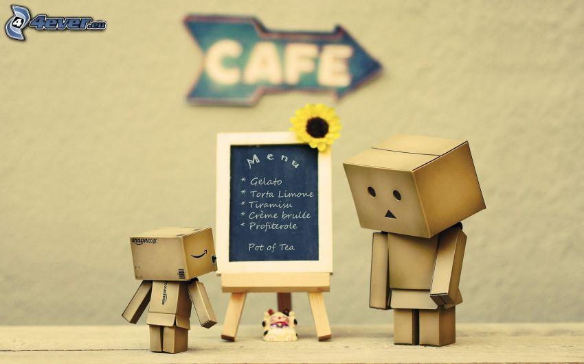 robot di carta, lavagna