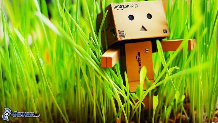robot di carta, l'erba