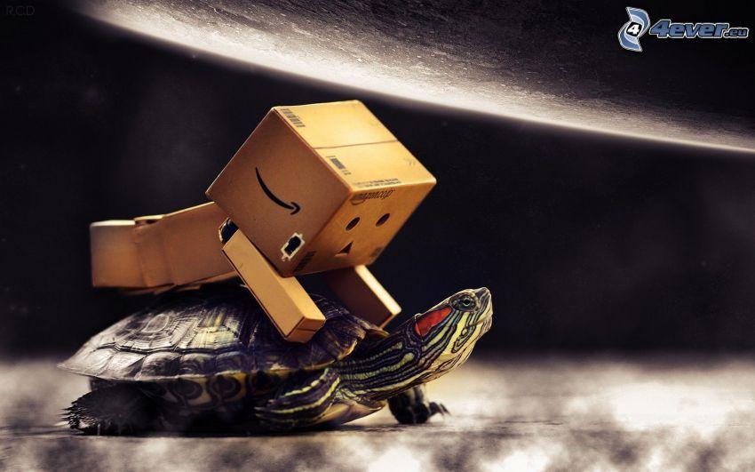 robot di carta, tartaruga