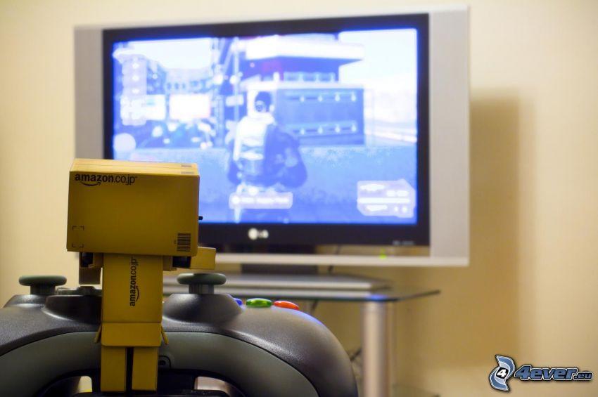 robot di carta, televisione