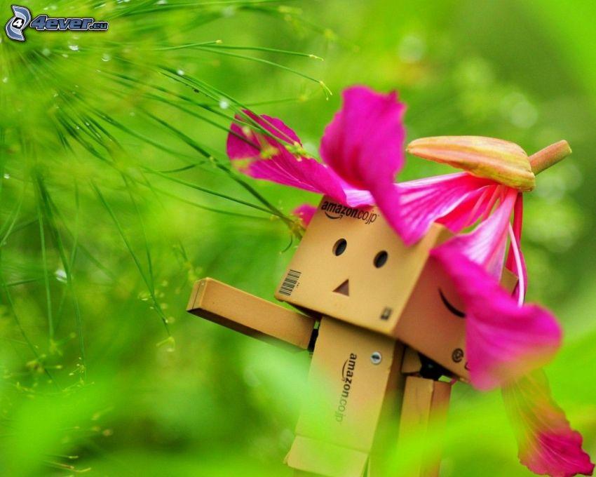 robot di carta, verde, orchidea