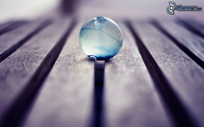 sfera di vetro, tavole