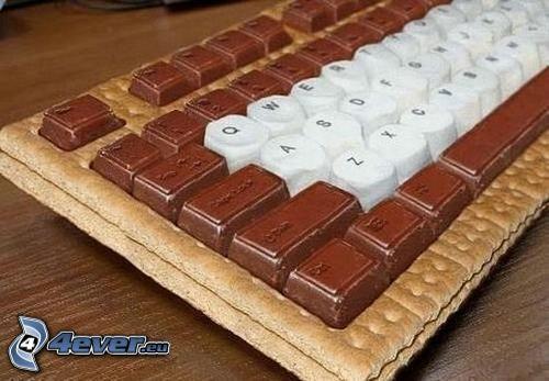 tastiera, cioccolato