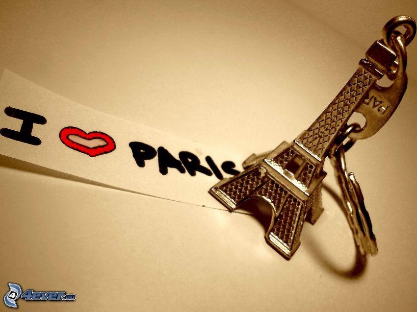 Torre Eiffel, I Love Paris, portachiavi, accessorio moda