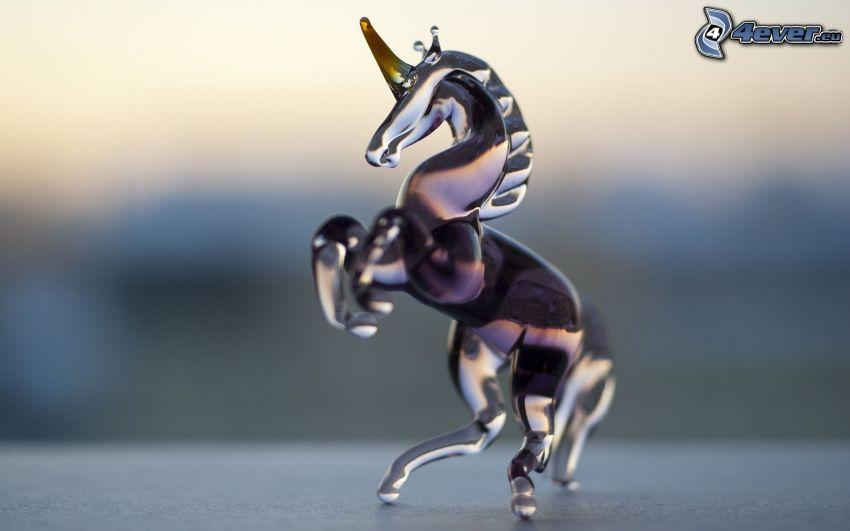 unicorno, vetro