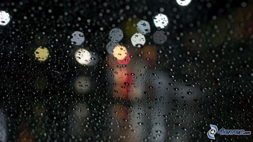vetro appanato, oscurità, luci