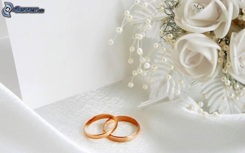 anelli di nozze, bouquet di nozze