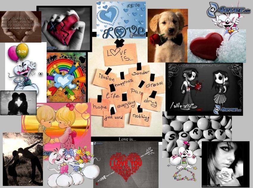 collage di amore, amore
