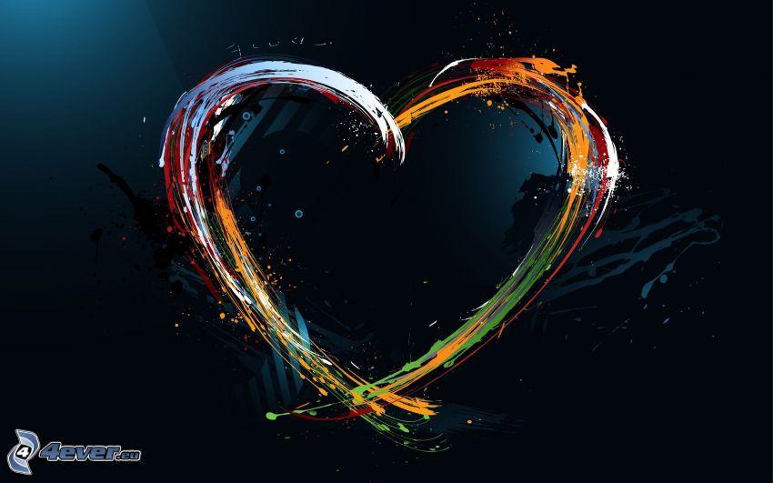 cuore, colori