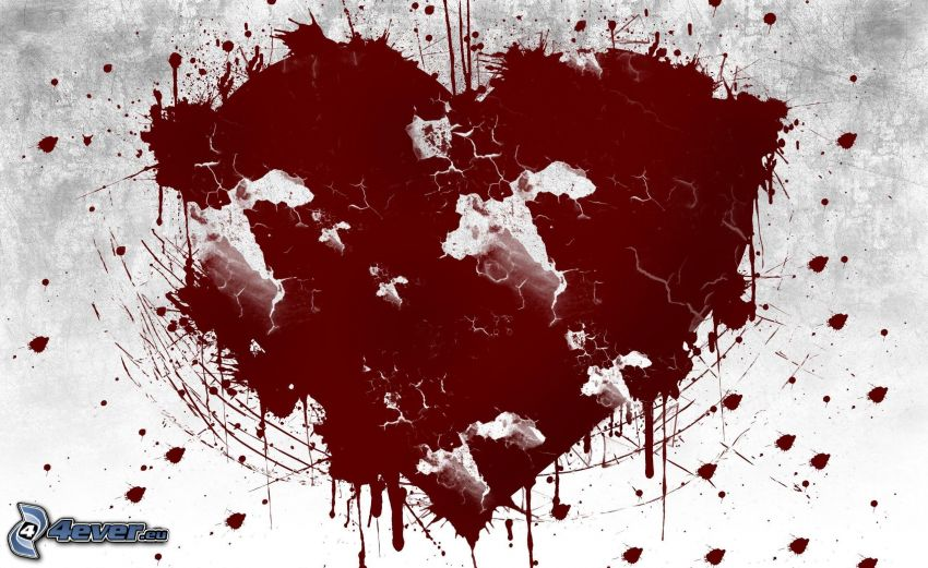 cuore, macchie