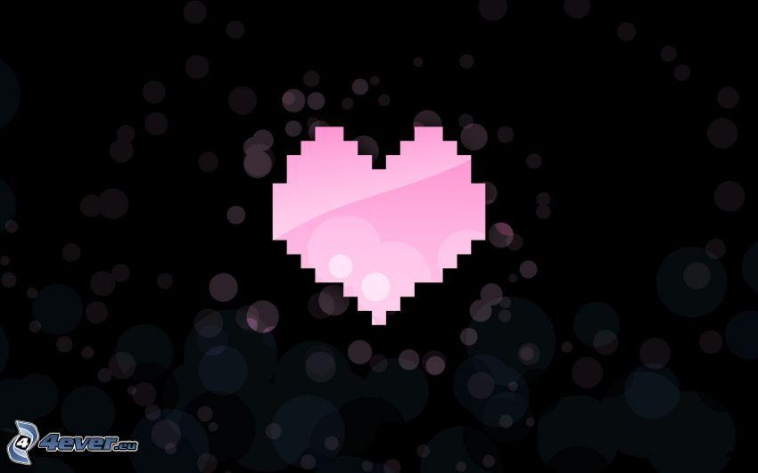 cuore, pixel