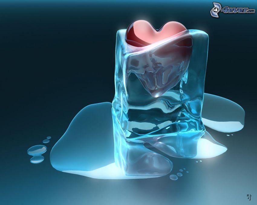 cuore congelato, ghiaccio
