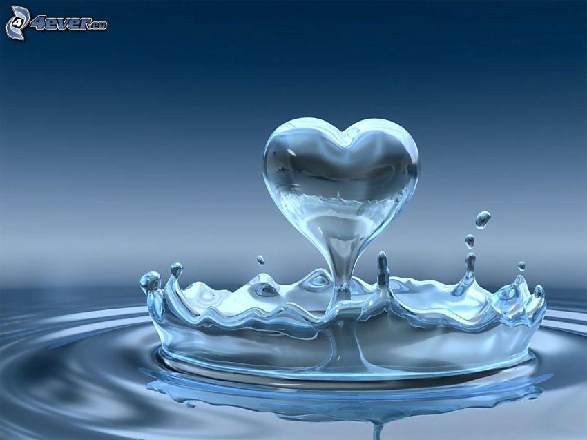 cuore dell'acqua