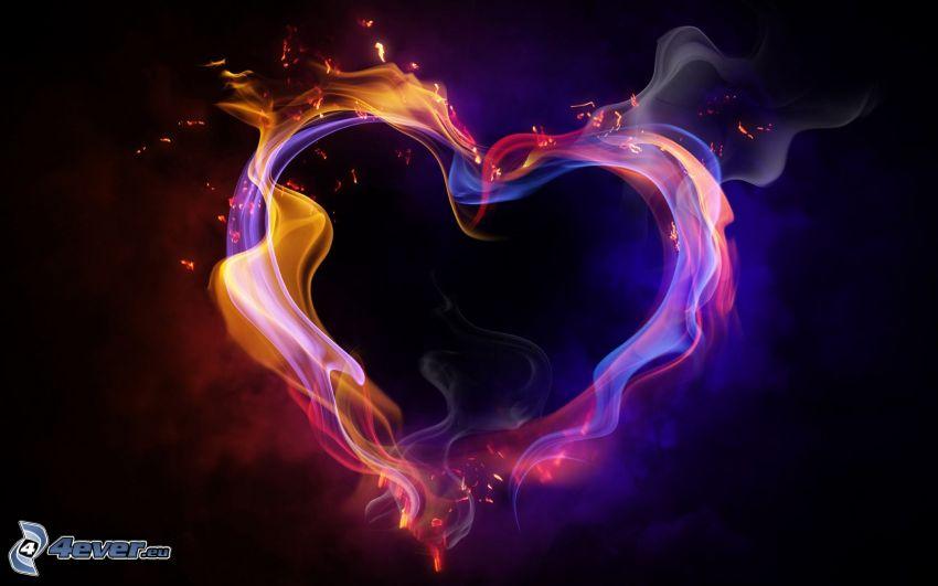 cuore fiammante