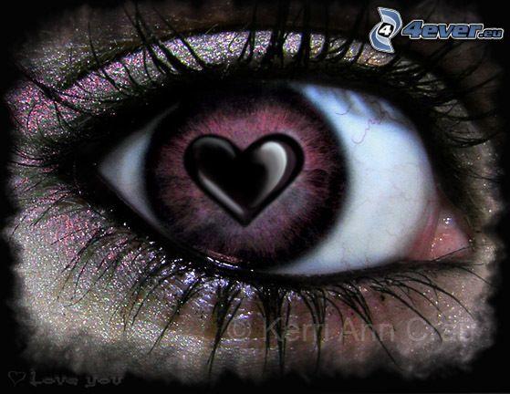 cuore nell'occhio, ciglia