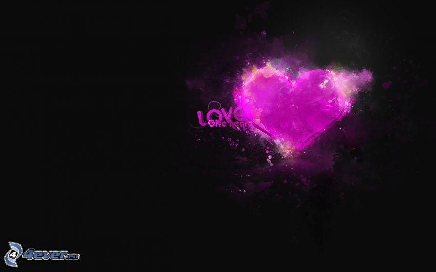 cuore viola