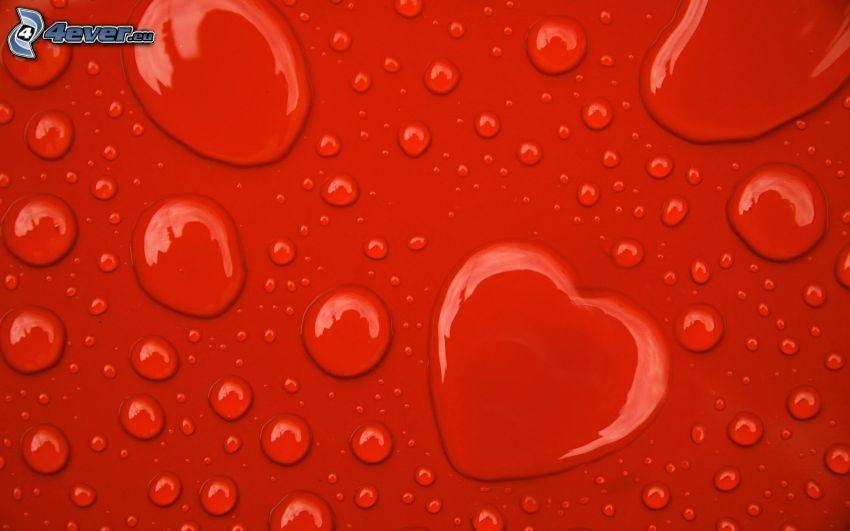 gocce d'acqua, cuore