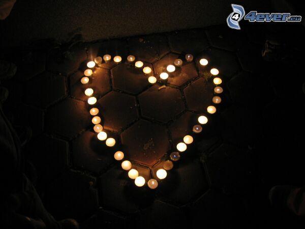 il cuore delle candele
