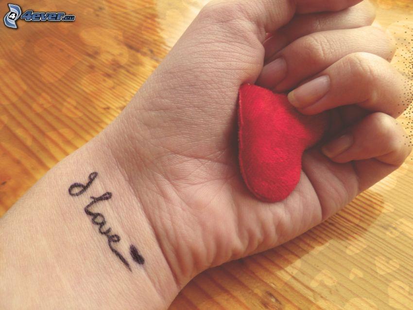 mano, cuore