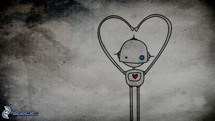 robot, cuore