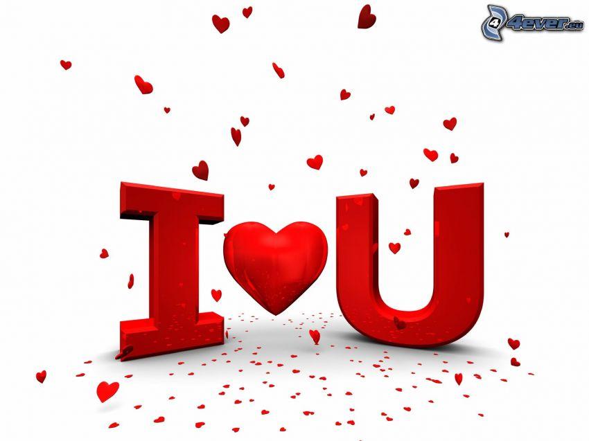 I love you, cuori