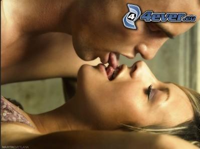 bacio, lingua, amore