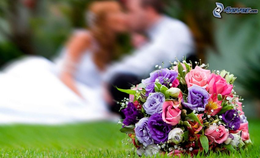 bouquet, sposi