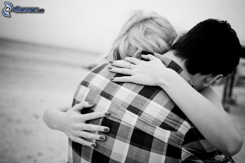 coppia, abbraccio