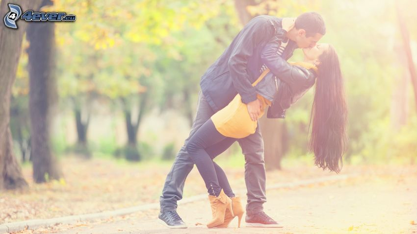 coppia, bacio