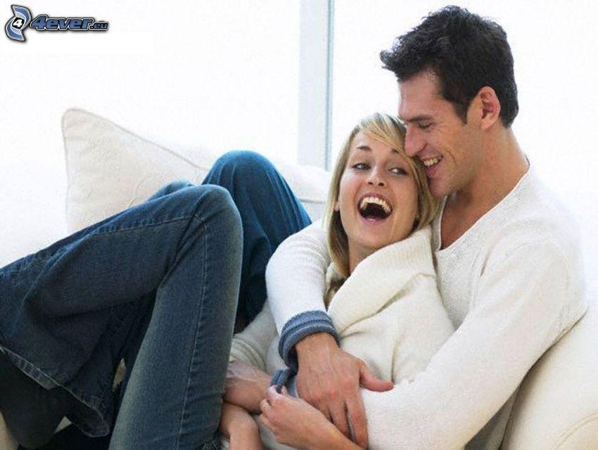 coppia, sorriso