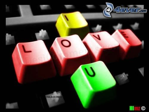 I love you, colori, Tasti