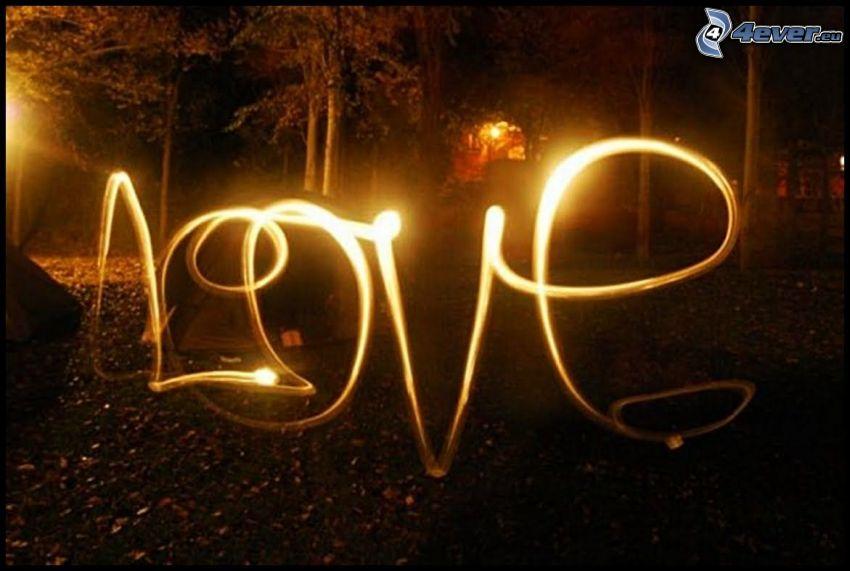 love, lightpainting, luce