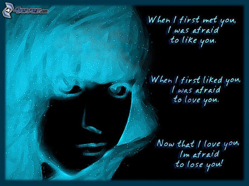 paura di amore, faccia
