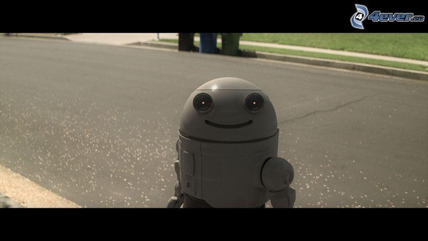 Blinky, robot, strada
