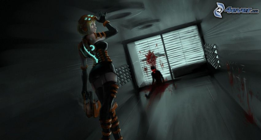 Dead Space, donna animata, omicidio