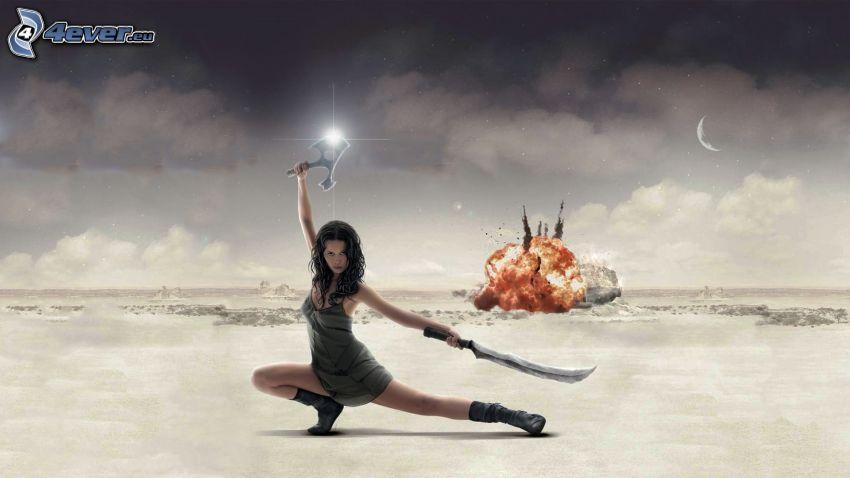 Firefly, donna con una spada