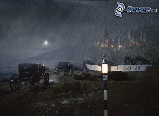 Harry Potter, carrozza, pioggia, freccia di strada
